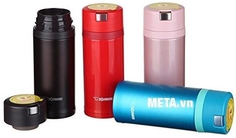 Bình giữ nhiệt nóng lạnh Zojirushi ZOBL-SM-XB36 có 4 màu cho bạn lựa chọn: xanh, đỏ, hồng, đen.