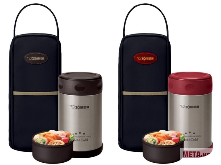 Hộp đựng thực phẩm giữ nhiệt Zojirushi SW-EXE50 với 2 màu riêng biệt.