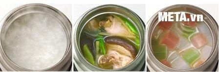 Hộp đựng thực phẩm giữ nhiệt Zojirushi SW-FCE75 giúp giữ nhiệt nhiều loại thức ăn.