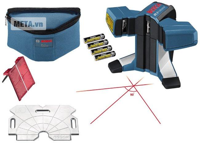 Máy cân mực laser 3 tia Bosch GTL 3 cho độ chính xác cao