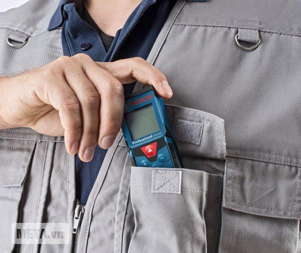 Máy đo khoảng cách laser Bosch GLM 40 thiết kế dễ sử dụng, chắc chắn