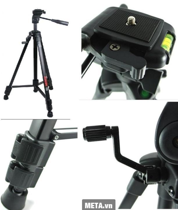 Chân máy laser Bosch Bt 150 được làm bằng chất liệu nhôm cao cấp.