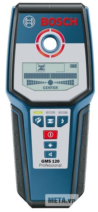 Máy dò đa năng Bosch GMS120 với thiết kế hiện đại.