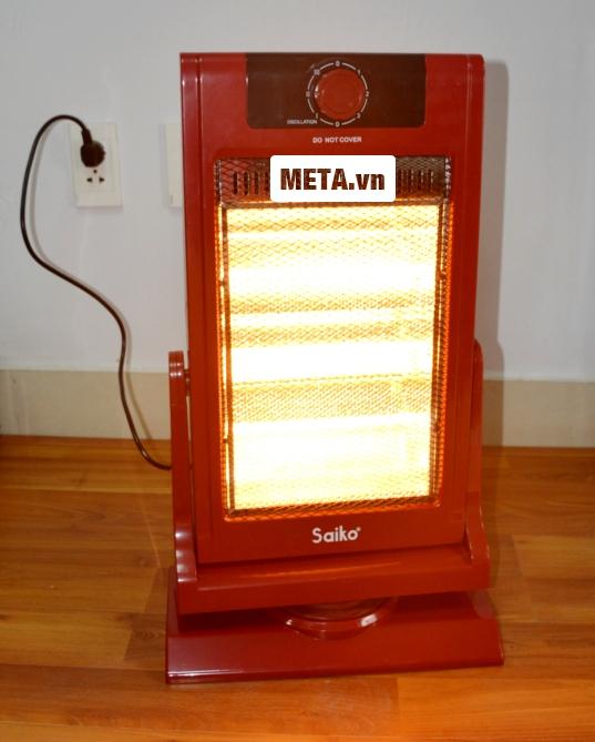 Đèn sưởi Saiko HF-1200 sưởi ấm nhanh và tỏa nhiệt đều.