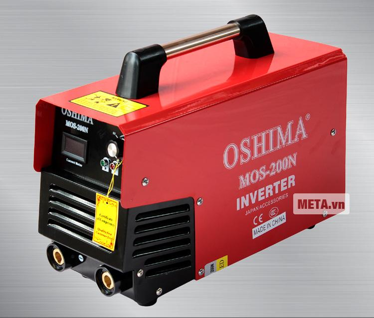 Máy hàn Oshima Mos 200N được thiết kế màu đỏ bắt mắt.