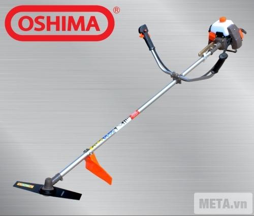 Máy cắt cỏ Oshima 411 cam xám với kiểu dáng đơn giản.