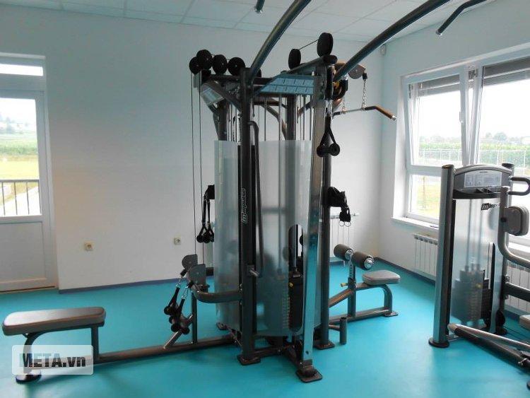 Giàn tạ 8 hướng Impulse IT9327 + IT9327OPT phù hợp lắp ráp tại phòng tập gym