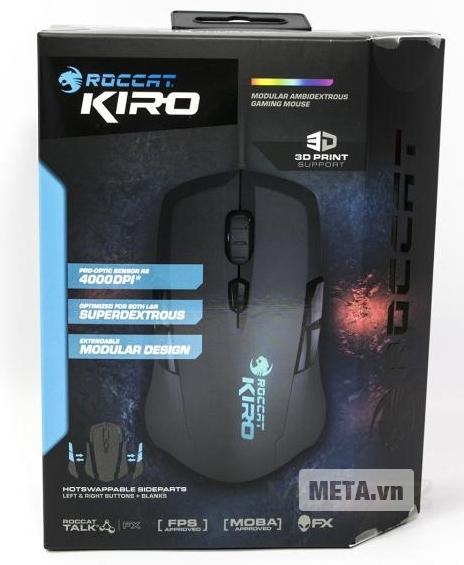 Hộp đựng của chuột máy tính Roccat Kiro.