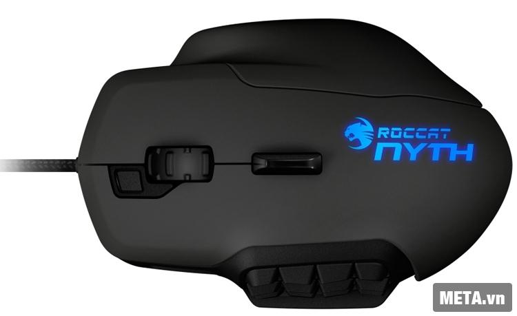 Chuột máy tính Roccat Nyth được thiết kế với kiểu dáng hiện đại.