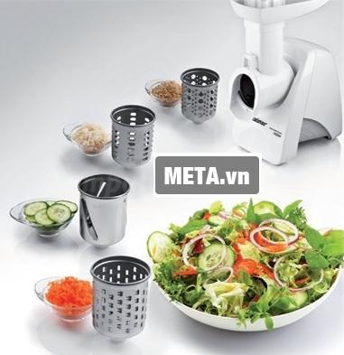 Máy xay đa năng này có thể chế biến nhiều loại thực phẩm khác ngoài thịt một cách dễ dàng.