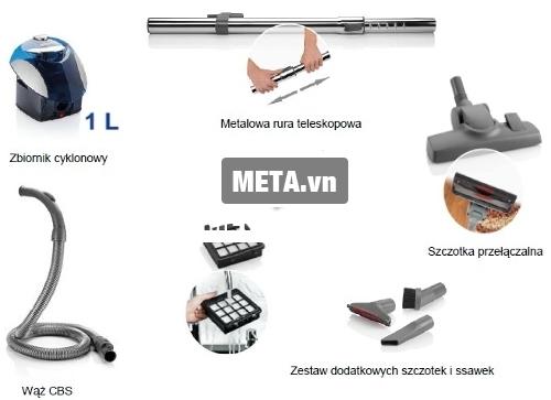 Zelmer ZVC265SK có các bộ phận tách rời nên rất dễ tháo lắp và vệ sinh.