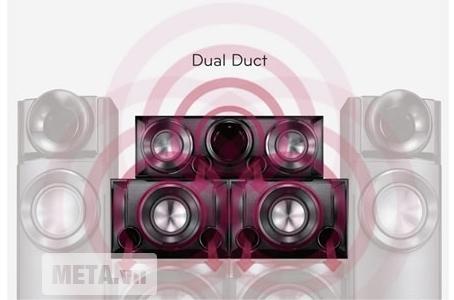 Dàn âm thanh LG ARX8500.DVNMLLK cho tiếng Bass trở nên mạnh mẽ hơn.