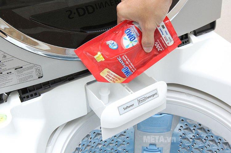 Khay đựng xà phòng, nước giặt trong máy giặt cửa trên 10.5 kg Toshiba ME1150GVWK.
