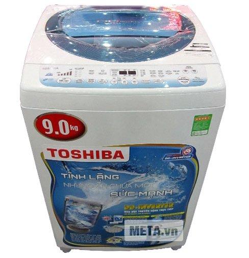 Máy giặt cửa trên 9 kg Toshiba DC1000CV với công nghệ truyền động trực tiếp.
