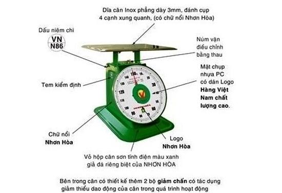 Cân đồng hồ Nhơn Hòa đảm bảo độ chính xác cao