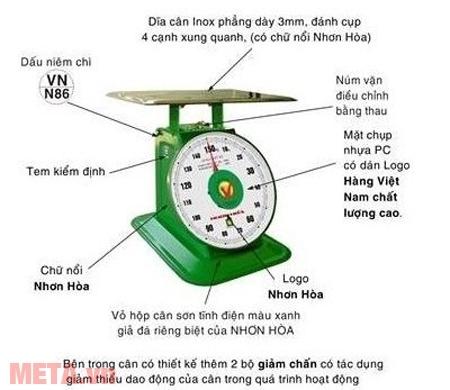Cân đồng hồ Nhơn Hòa 60kg thuận lợi cho người sử dụng khi đọc kết quả đo lường