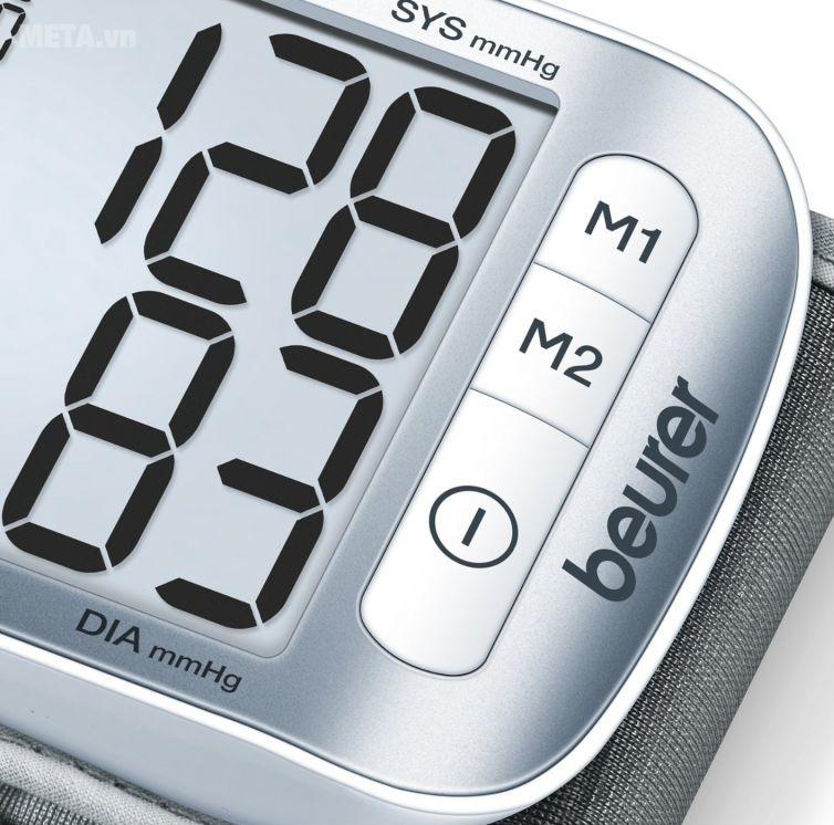 Máy đo huyết áp cổ tay Beurer BC50 thiết kế màn hình lcd kích thước lớn