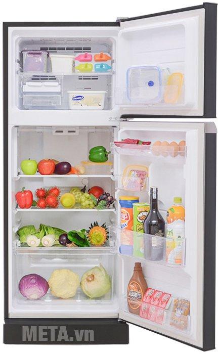Tủ lạnh 196 lít Sharp SJ-211E-SL phù hợp cho gia đình từ 4 đến 5 thành viên