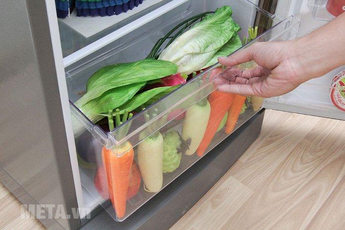 Tủ lạnh 196 lít Sharp SJ-211E-SL có ngăn đựng rau củ lớn