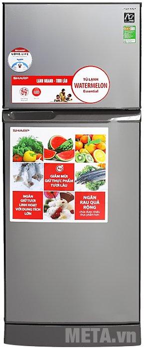 Hình ảnh của tủ lạnh 196 lít Sharp SJ-211E-SL