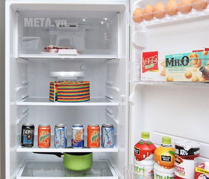 Tủ lạnh 342 lít Sharp SJ-X345E-MS có hệ thống khay kệ linh hoạt
