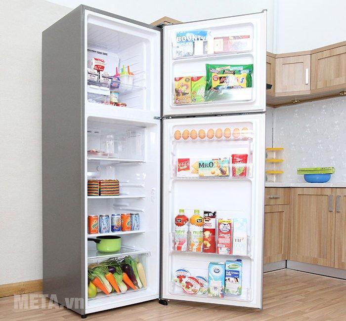 Tủ lạnh 342 lít Sharp SJ-X345E-MS dự trữ được lượng thực phẩm lớn