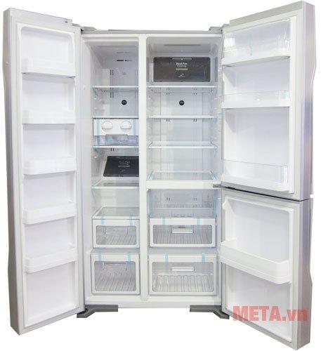 Tủ lạnh 600 lít Hitachi M700PGV2 nhiều ngăn đựng đồ