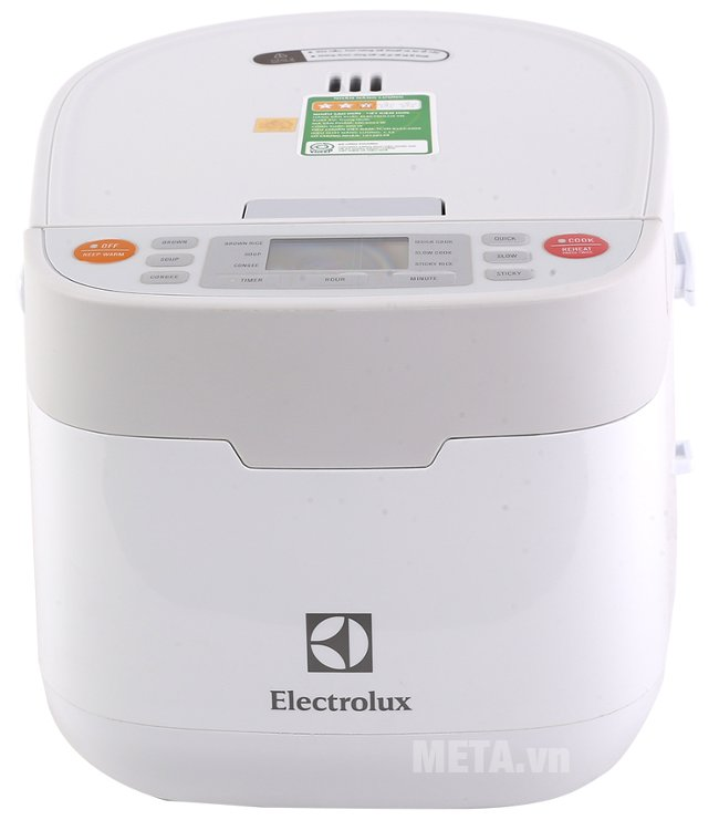 Nồi cơm điện Electrolux ERC7603W với cụm thoát hơi nước giúp chống tràn, chống nổ