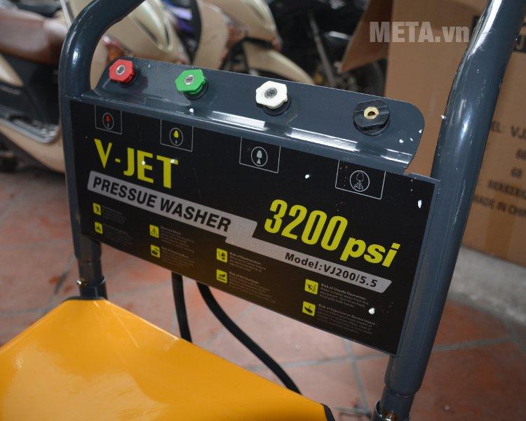 Máy rửa xe V-JET VJ 200/5.5 có 3200psi