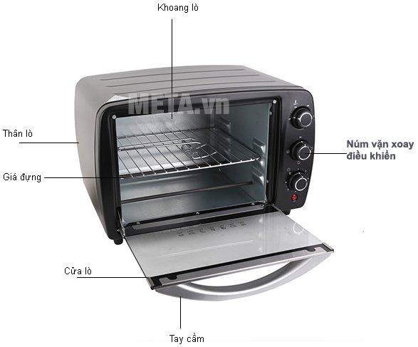 Lò nướng Electrolux EOT3805 có thanh nhiệt bằng théo không gỉ