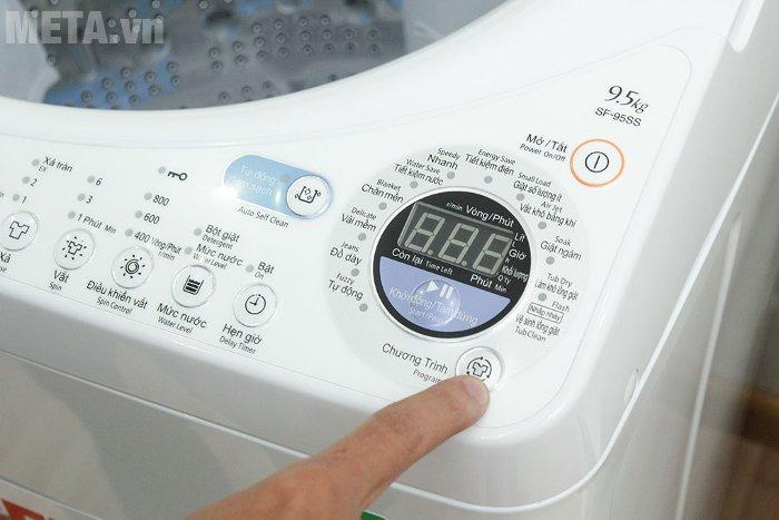 Máy giặt cửa trên 9.5kg Hitachi SF- 95SS có 12 chương trình giặt tiện ích
