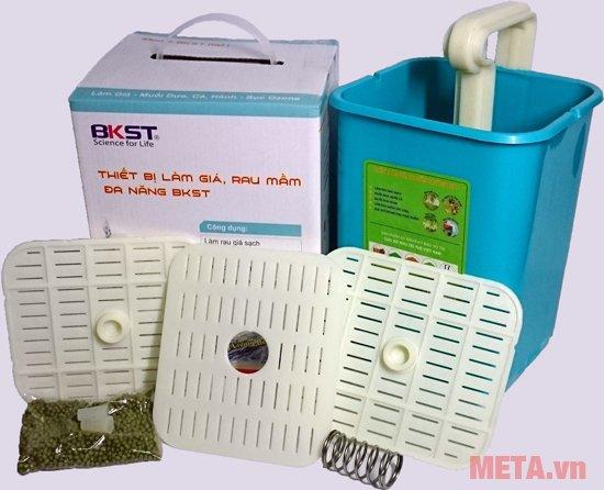 Máy làm giá đỗ sạch, rau mầm đa năng BKST được làm từ nhựa an toàn