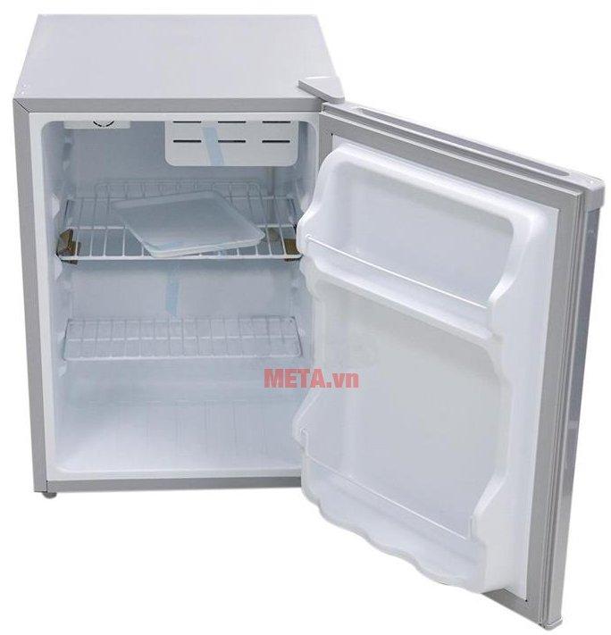 Tủ lạnh mini 68lít Midea HS-90LN có hệ thống khay kệ bằng nhựa cao cấp.