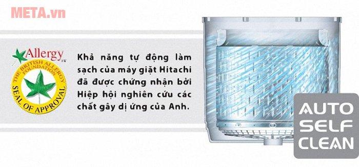 Máy giặt cửa trên Hitachi 14kg SF- 140XTV có chức năng tự vệ sinh lồng giặt