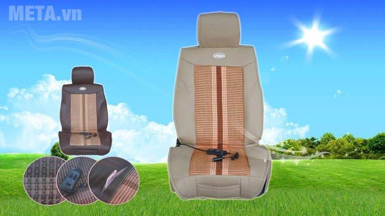 Đệm làm mát lưng ôtô 3 in 1 Lifepro L267-CS (12V) có thiết kế sang trọng, tiện lợi
