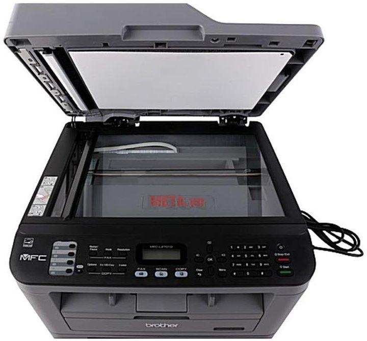 Brother MFC-L2701D tích hợp 4 tính năng in, scan, fax và copy.
