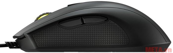 Chuột game Mionix Castor (quang) thiết kế 2 phím đặc biệt ở bên hông.