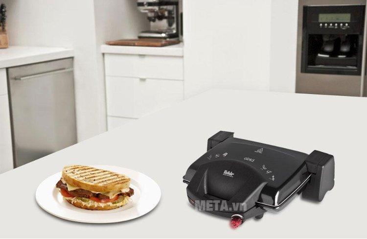 Máy nướng đa năng Fakir GRACE được dùng để nướng thịt, cá, sandwich