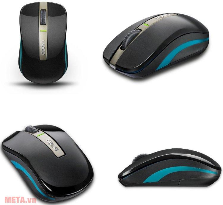 Chuột không dây Rapoo 6610 NEW màu đen.
