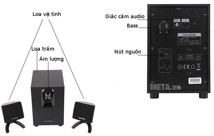Loa Microlab M108 cho âm thanh sống động
