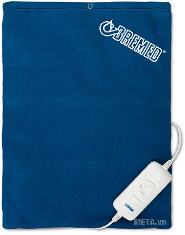 Tấm chườm điện nóng Bremed BD 7800 có lớp vải cotton màu xanh