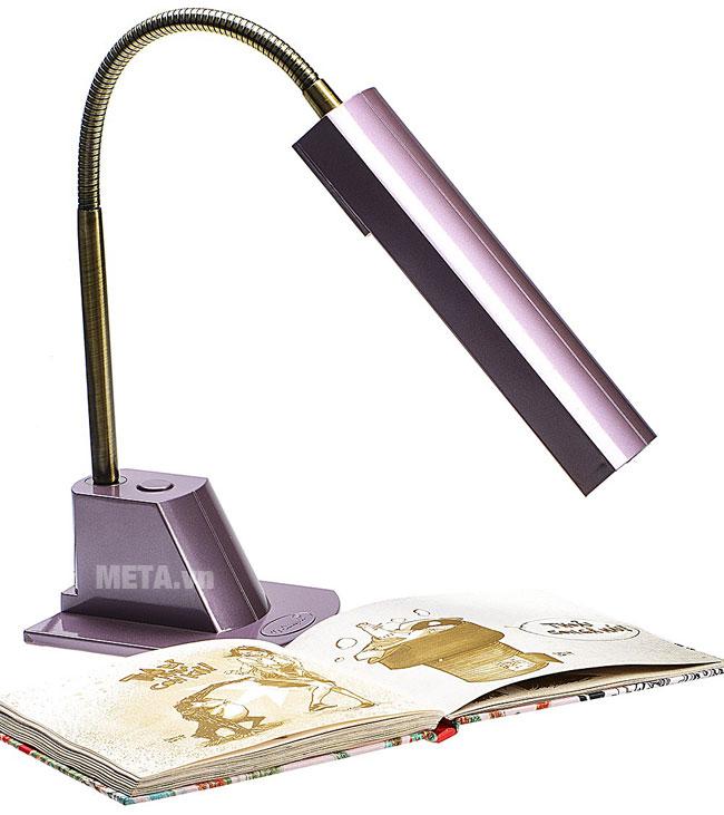 Đèn bàn cao cấp V-light FGL 13w màu hồng sen