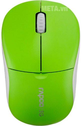 Chuột không dây Rapoo 1090P Lite với thiết kế nhỏ gọn, màu sắc nổi bật