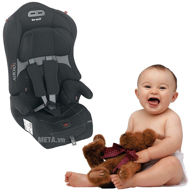 Ghế ngồi ô tô cho bé Brevi Allroad BRE511-258 tạo cảm giác thoải mái cho bé khi ngồi xe