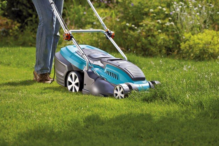 Máy cắt cỏ chạy điện 42E - 04076-20 có tay đẩy, dễ dàng sử dụng