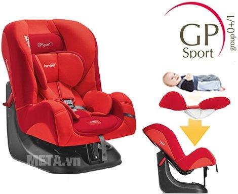 Ghế ngồi ô tô cho bé Brevi GP Sport BRE517 mang đến cho bé cảm giác thoải mái khi ngồi xe