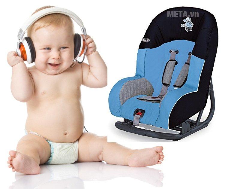 Ghế ngồi ô tô cho bé Brevi Grandprix BRE515-199 có thiết kế khung ghế vững chắc