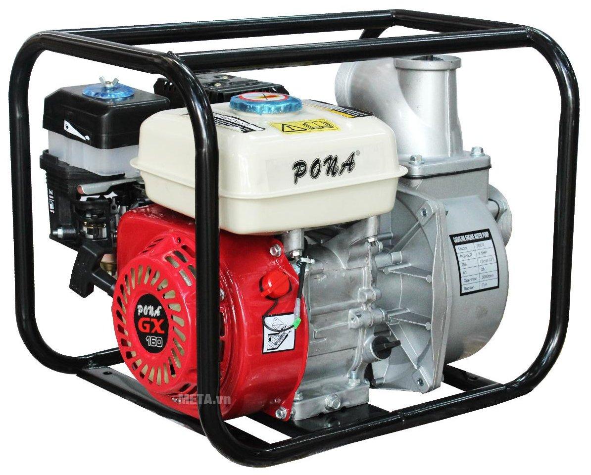 Máy bơm nước chạy xăng Pona CX 30 có công suất 6,5HP, thiết kế kiểu dáng đẹp