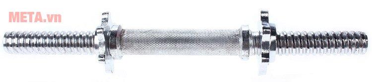 Đòn tạ inox ngắn Đài Loan được làm từ inox siêu bền
