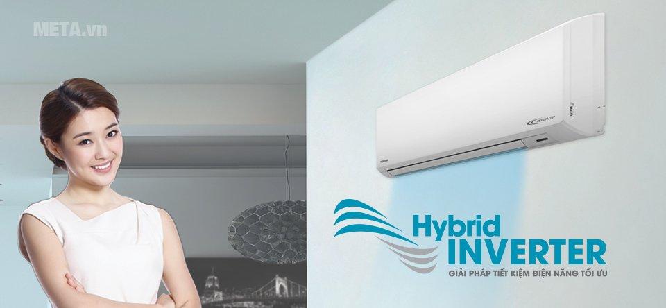 Điều hòa 1 chiều Inverter 12000 BTU Toshiba H13BKCVG-V sử dụng công nghệ Hybrid Inverter